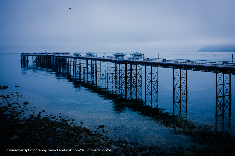 early morning mist llandudno pier-01252